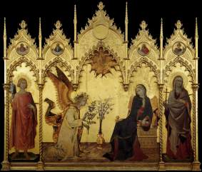 Simone_Martini_-_The_Annunciation_and_Two_Saints_-_WGA21438